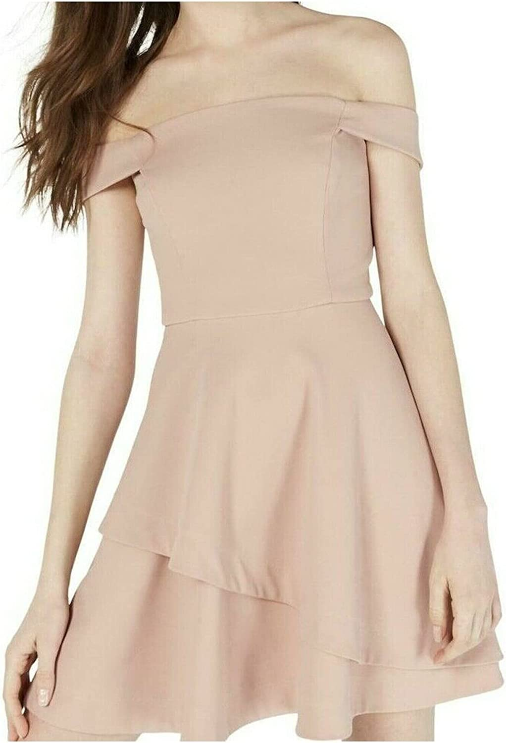 Speechless Women's Junior's Off The Shoulder Fit and Flare Dress