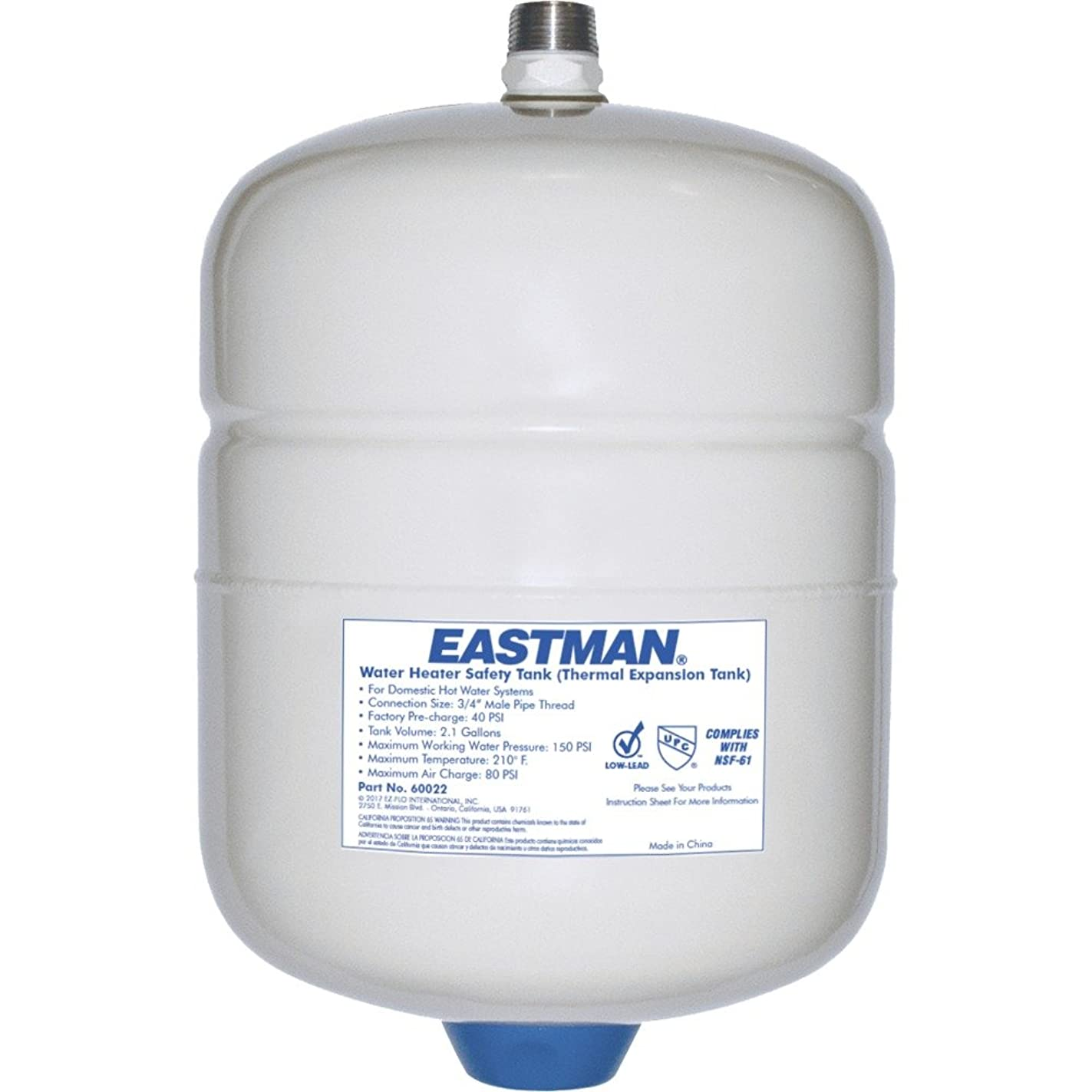 Eastman 60022 Thermal Expansion Tank, 2 Gallon, White