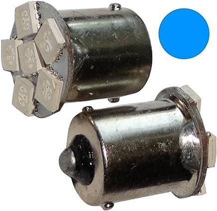2x Bombillas P21W R5W R10W 12V 8LED SMD verde base de 1156 C14074 AERZETIX