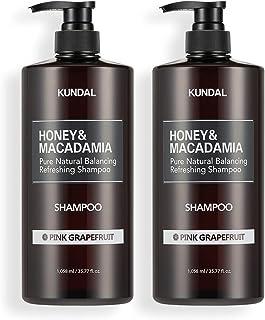 [KUNDAL公式]クンダル ネイチャー シャンプー1058ml(2個入り) ピンクグレープフルーツ Nature Shampoo 1058ml(2ea) Pink Grapefruit 全成分EWGグリーンレベル・pH弱酸性・自然由来界面活性剤