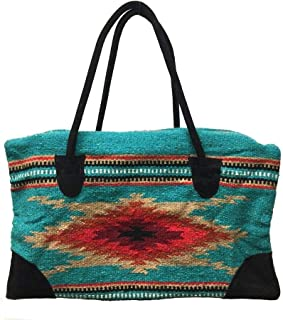 Large Weekender Travel Bag Luggage Fully Lined Suede Handles Southwest Designs