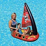 shewt Juguete Inflable de la Piscina para niños Barco Pirata Inflable Juguete acuático Natación al Aire Libre Juguete Flotante Inflable para niños