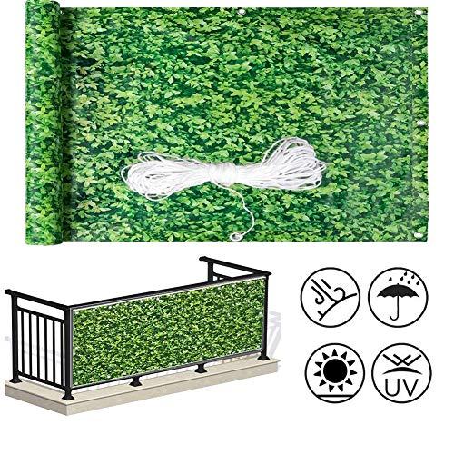 LJIANW Écran de confidentialité pour Balcon, Gazon Artificiel Décoration Clôture Étanche PVC Opaque Étanche Anti-UV avec Oeillets for Balcon Jardin, 62Tailles (Color : Green, Size : 1x9m)