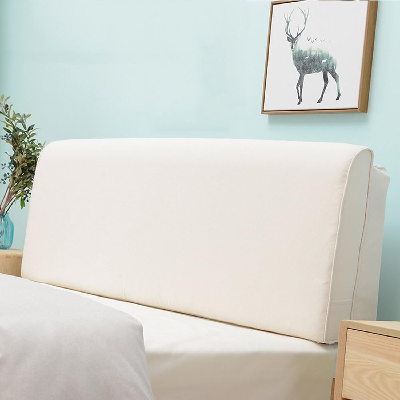 WENZHE Upholstered Fabric Headboard Bedside Cushion Pads Soft Case Washable Large Back Bedroom Sofa Back Pad, with Headboard No Headboard, 6 colors, 3 Sizes