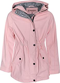 e89df31b Urban Republic Girls Anorak Vinyl Raincoat with Hood and Cinched Waist