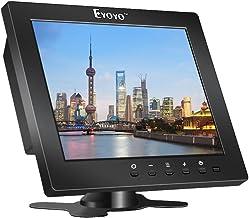 Eyoyo S801C 8 Pulgadas Monitor TFT LCD Pantalla (4: 3,1204x768, 250cd / ㎡,VGA, BNC, AV, HDMI, Ypbpr) (8 Inch 1024x768)