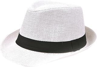 7f88b4839f100 Leisial Panama de Paille Casquettes visières Anti-Soleil Respirant Anti UV  Chapeau de Paille pour