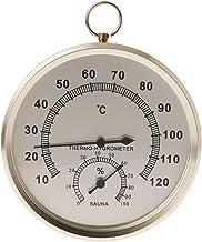 A0127 – Humidificador termómetro para sauna humedad ambiente medidor de temperatura interior higrómetro doble esfera pared colgar metal medición