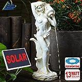 AMUR Garten Brunnen Solar Teichpumpe Solar Springbrunnen Gartenbrunnen Solar Wasserspiel Knabe mit Hund am Brunnen Set Solar Pumpe Teichpumpe f. Terrasse Teich Garten Gartenteich...
