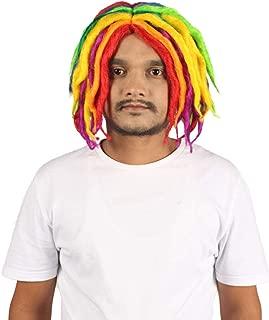 Lil Pump Rainbow Dreadlock Wig | Rainbow Celebrity Wigs