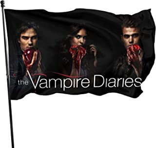 ZZHZMH The Vampire Diaries Garden Flags Seasonal Holiday Décor 3 X 5 Foot Flag Outdoor Farmhouse Decoration