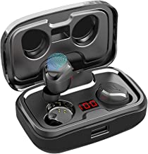 Wireless Earbuds, AIKELA True Wireless Headphones Bluetooth 5.0 in Ear Earphones with 140H Playtime Featured Built-in Mic Headset IPX7 Waterproof Sport Bluetooth Earbuds for iPhone Android