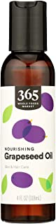 365 by Whole Foods Market, Aromatherapy Carrier Oil, Nourishing Grapeseed Oil (Skin & Hair Care), 4 Fl Oz