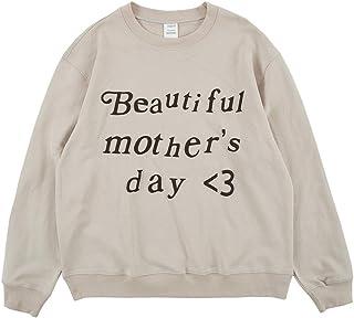 Beautiful Mother's Day Sweatshirt Hip Hop Rapper Letter Print Casual Sweatshirts Crew Neck Pullover Long Sleeve Hoodie
