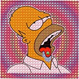 Bicycle Day Homer Trip BLOTTER Art Psychedelic Print Perforated Sheet, Acid Free LSD Art Paper 30x30, 900 tabs, 7.5 inch, in Clear Protective Sleeve