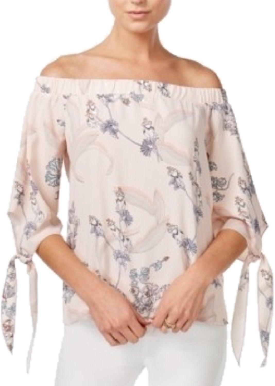 Bar III FloralPrint OffTheShoulder Chutney Combo XL