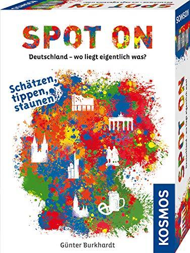 KOSMOS 695187 Spot On - Deutschland - Wo liegt eigentlich was? Rasantes  Geografie-Spiel um Deutschlands Städte, ab 10 Jahre, für 2 - 4 Spieler
