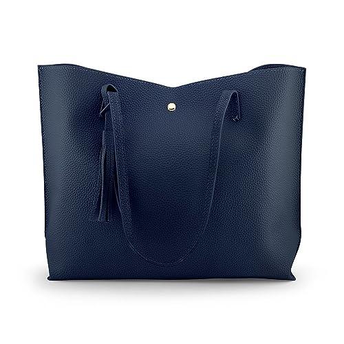 Oct17 Women Large Tote Bag - Tassels Faux Leather Shoulder Handbags 09b37d3dd4