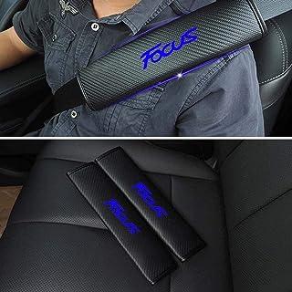 2pcs Auto Fibra De Carbon Almohadillas para Cintur/óN De Seguridad para Ford Focus All Models,con Patr/óN De Logo Bordado Almohadillas Protectores De Coche Hombro Accesorios De Interiores