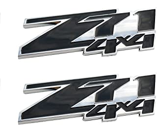 Yuauto 2 Pack 5.3L Vortec Hood 5.3L Emblems Engine Badge 3D Replacement for Silverado Z71 GMC Sierra Chrome
