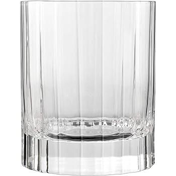 Transparent Luigi Bormioli 7540467 Bo/îte de 4 Verres /à eau Cristal 7,7x7,7x22 cm