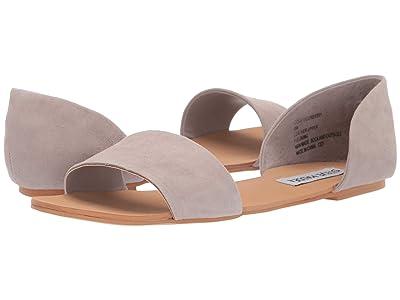 Steve Madden Corey Flat Sandals (Light Grey Suede) Women