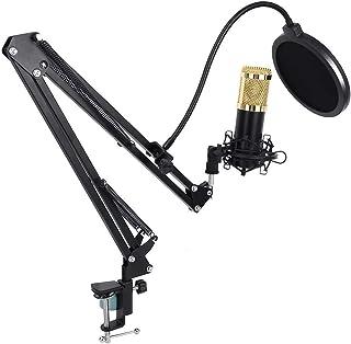 Broadcasting Microphone, 20~20KHz 150Ohm Single Mic Kit, 5~9V for Recording Studios for Radio Stations
