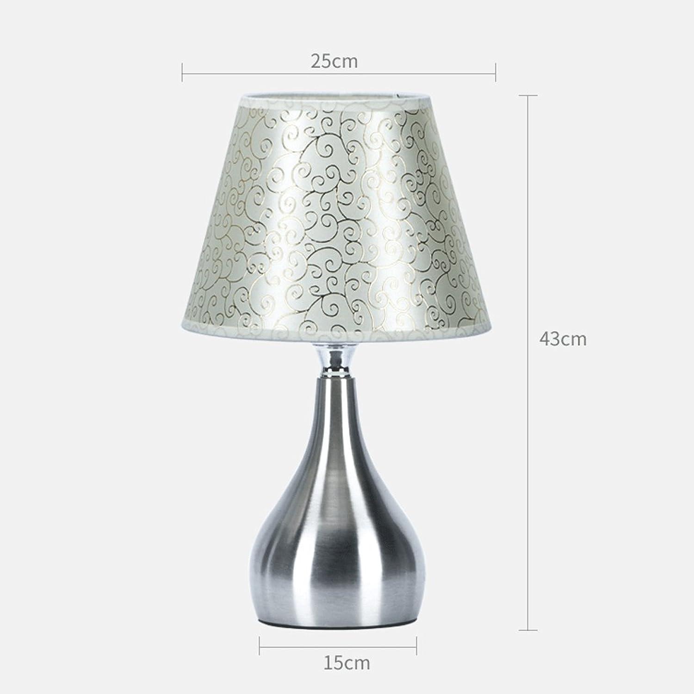 LZY Tischlampe- Schlafzimmer Nachttischlampe Wohnzimmer Hochzeit Zimmer dekorative Tischlampe Studie Leselicht (Farbe   B)