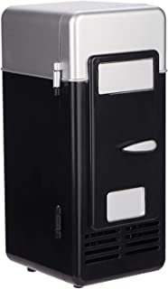 Minikylskåp, 8,1 x 8,6 x 19,3 cm inbyggda LED-lampor lätt bärbar drinkkylare kompakt kylskåp, för kök resor kontor (svart)