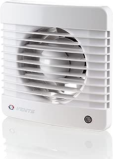 VENTS 100 Silenta MV K - Ventilador extractor de baño de 100 mm, silencioso, color Blanco brillante