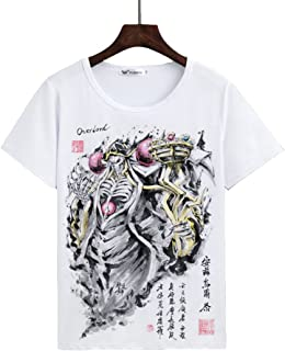 Zulha オーバーロード Overlord アインズ·ウール·ゴウン アニメ・萌えグッズ アニメ 半袖 Tシャツ (E, XL)