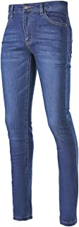 Slim Skinny Fit Denim Blue Straight Jeans for Women and Girl