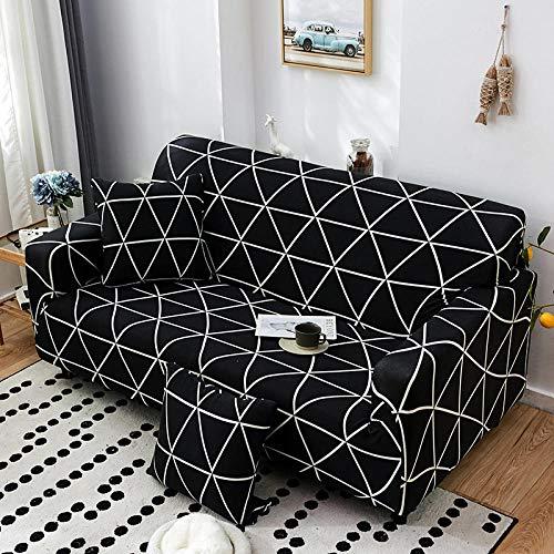 Fsogasilttlv Protector para Sofás 3 plazas, Fundas de sofá elásticas Impresas Estiramiento de la Cubierta del sofá, Estuche para la Funda seccional C del sofá de la Esquina