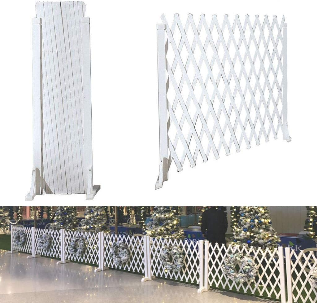 JHZWHJ Wooden Fence Pet Decorati Limited Low price time trial price guardrail Mesh Telescopic