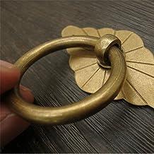 Handvatten Diamond Base Pull Ring Handle Antiek Brons messingshandvat houten meubilair kast lade deur geschikt for alle so...