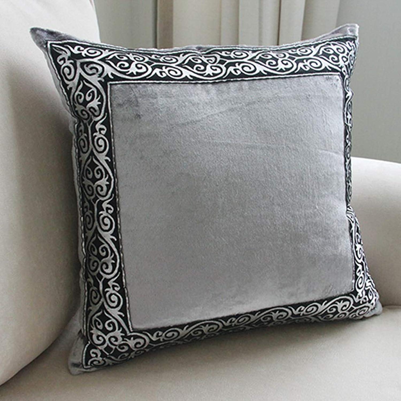 QYSZYG Pillow Sofa Cushion Home Office Bedside Car European-Style Waist Backrest Pillow with Core Pillowcase Pillow (color   D, Size   45cm45cm)