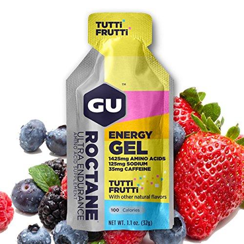 GU Energy Roctane Gel Energizante de Tutti Frutti - 24 Unidades