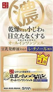 Sana Nameraka Honpo Soy Milk Isoflavone Wrinkle Gel Cream - 100g (Green Tea Set)