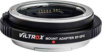 Viltrox EF-GFX Aperture Control Lens Mount Adapter Auto-Focus Converter Ring for Canon EF/EF-S Lens to Fuji GFX Mount Medium Format Camera Fujifilm GFX 50S / 50R