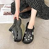 Kirin-1 Zapatillas De Casa para Mujer Baratas,Zapatos Y Complementos,Zapatillas Mujer Verano Antideslizante Transpirable Color Taladro De Moda Playa Zapatos De Cueva-36_Negro