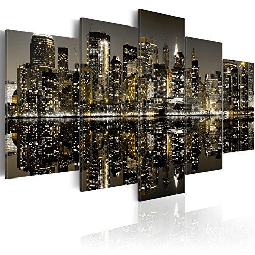 murando Cuadro en Lienzo 200x100 cm Impresión de 5 Piezas Material Tejido no Tejido Impresión Artística Imagen Gráfica Decoracion de Pared New York Ciudad Nueva York NY 030111-38