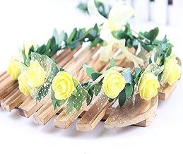 YTXTT Guirlanda de coroa floral de rosas para crianças, coroa de flores para meninas, coroa de crianças para festas de ani...
