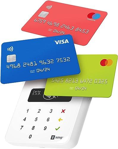 SumUp Air terminal de paiement, TPV, Aucuns frais mensuels, Bluetooth, Acceptez toutes les cartes bancaires, NFC, App...