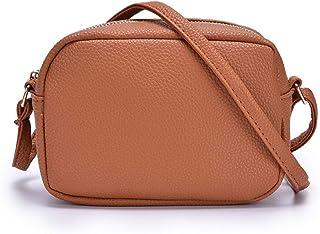 Borsa a tracolla piccola in pelle per le donne Mini Zip Borsa con Messenger Bag