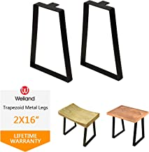16 '' Tall Trapezoid Metal Table Legs for Furniture, Bench Legs, Coffee Table..