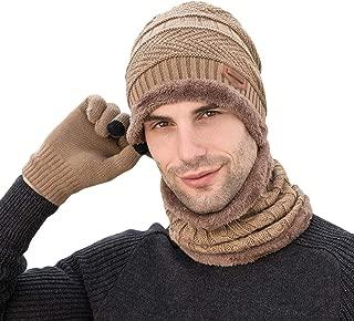 cappello unisex caldo lavorato a maglia alluncinetto con sciarpa e scaldacollo per sport allaria aperta e sci grigio Taglia unica Yuson Girl/®