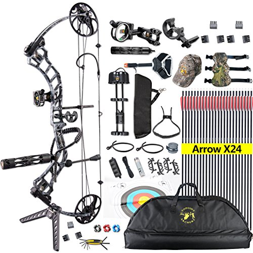 TOPOINT Trigon Compound Bow Full Package,CNC Milling Riser,USA Gordon Composites Limb,BCY...