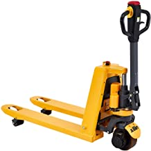 "Xilin Electric Powered Pallet Jack 3300lbs Capacity Lithium Battery Mini Type Walkie Pallet Truck 48""x27"" Fork Size"