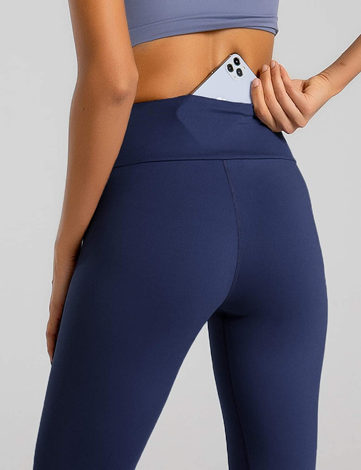 Peach Skin Finish 30/% Spandex Workout Pants Gym Tights FIRST WAY Buttery Soft Womens Yoga Leggings with Pockets