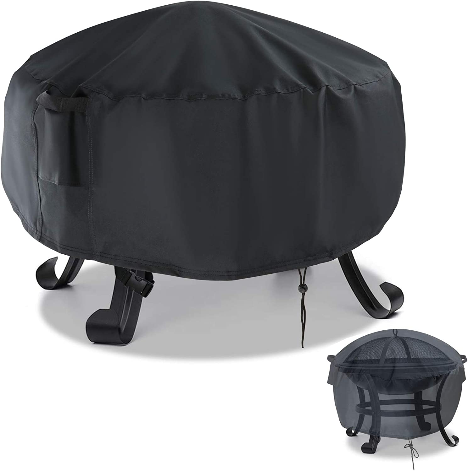 Aidetech Industry mart No. 1 Gas Fire Pit Cover Round 30 W PVC Inch 600D Duty Heavy